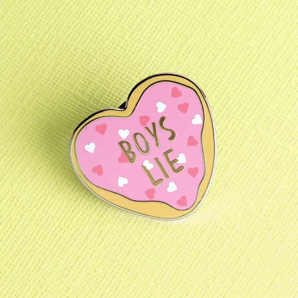Punky Pins BOYS LIE enamel pin NZ