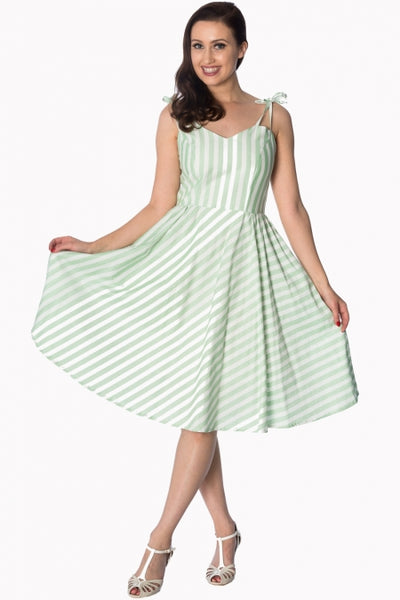 Banned Candy Stripe mint sundress NZ