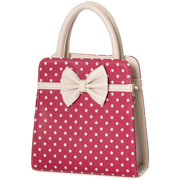 Carla handbag in deep pink