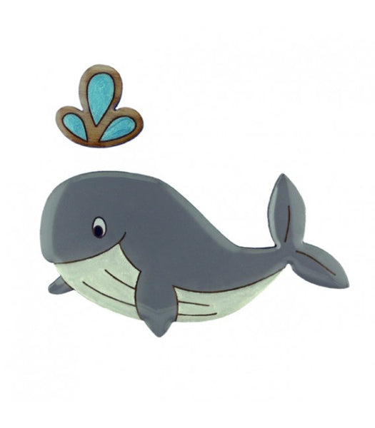 whale brooch Two Lippy Ladies