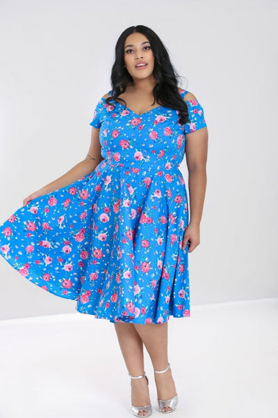 Plus-size-chantilly-blue-dress