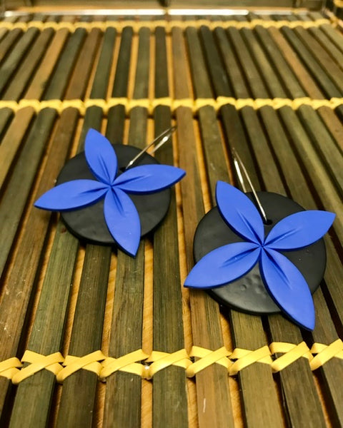 Blue-tipani-statement-aolele-earrings
