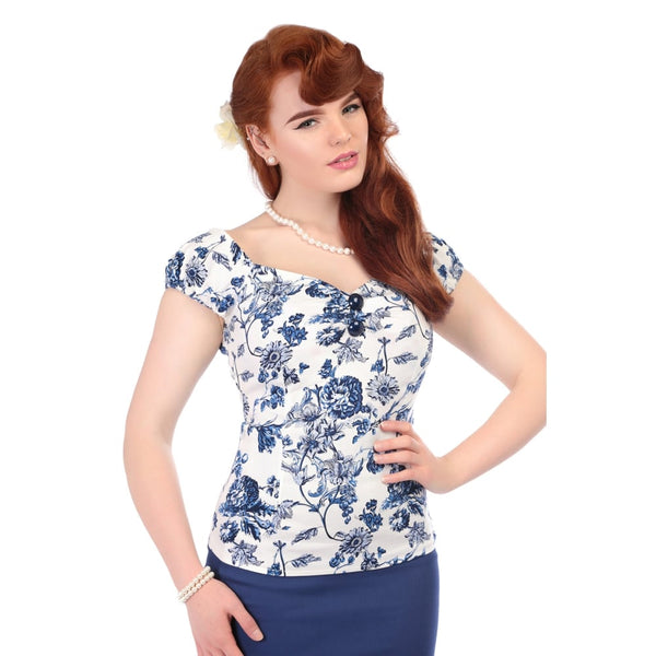 Collectif Dolores toile top NZ Two Lippy Ladies
