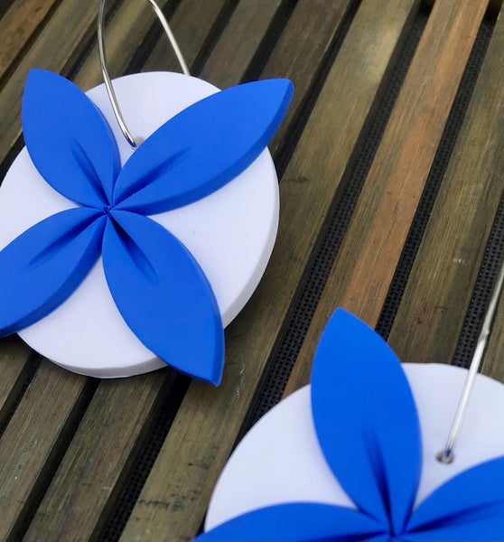 Blue-white-tipani-statement-earrings