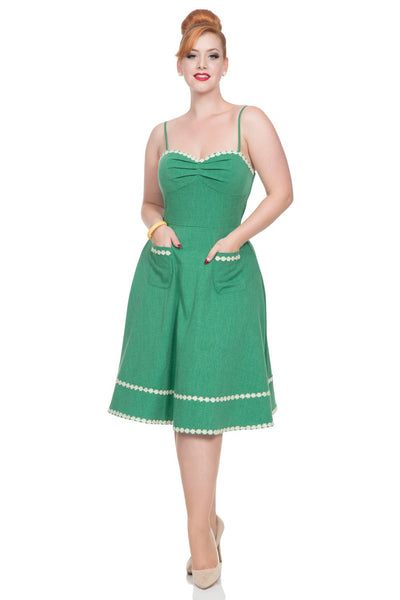 Deliliah Voodoo VIxen green daisy dress