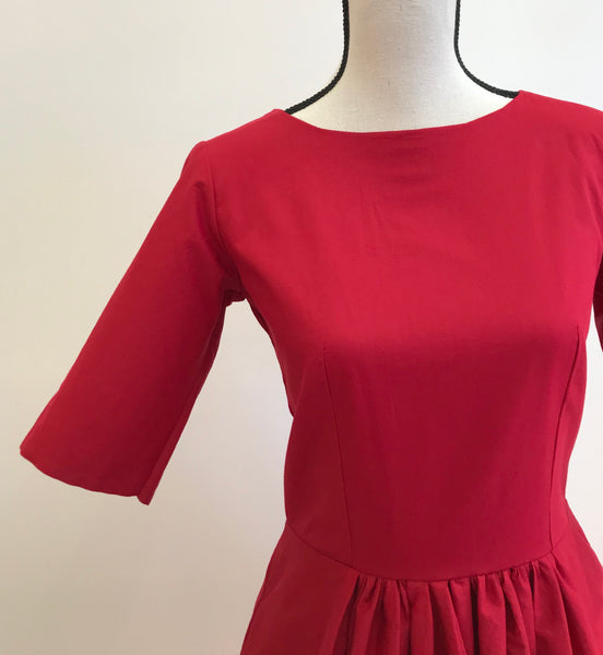 Ruby dress in deep red
