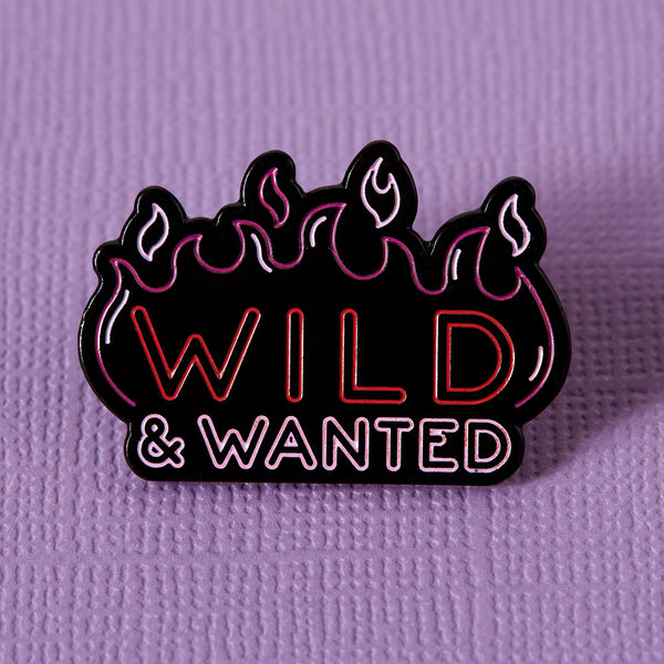 Punky Pins neon wild and wanted pin