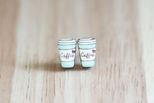 Bok Bok B'Gerk coffee cup earrings NZ