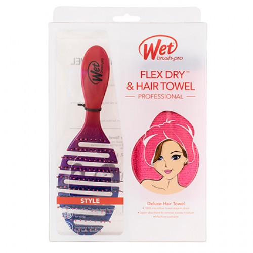Wet brush pro flex dry and hair towel gift set