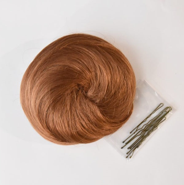 dance hair bun light brown