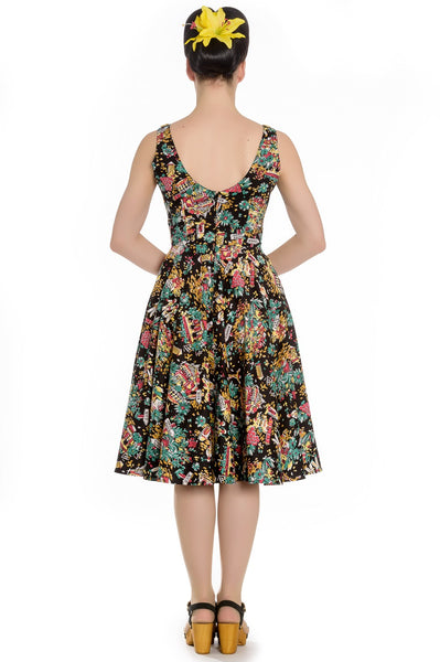 Hell Bunny Monte Carlo dress back