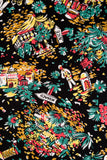 Hell Bunny Monte Carlo dress print detail