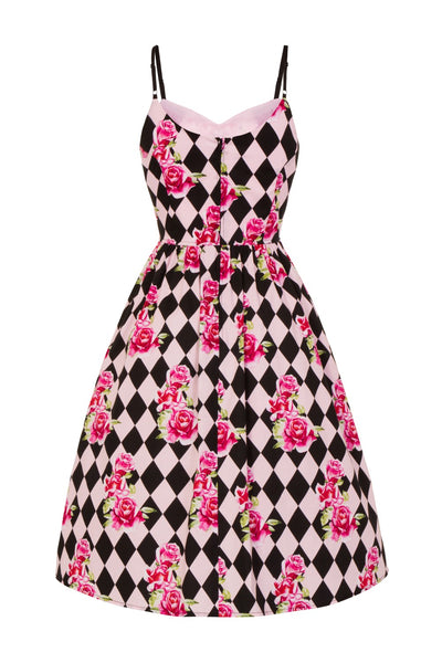 Hell Bunny Harlequin dress front