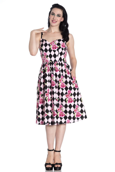 Hell Bunny Harlequin dress NZ