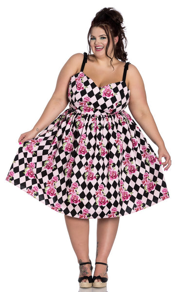 Hell Bunny Harlequin dress plus size