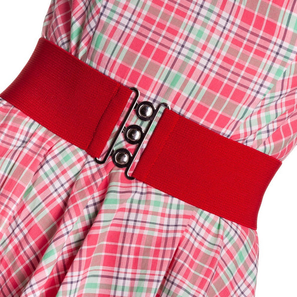 Hell Bunny waspie waist belt red