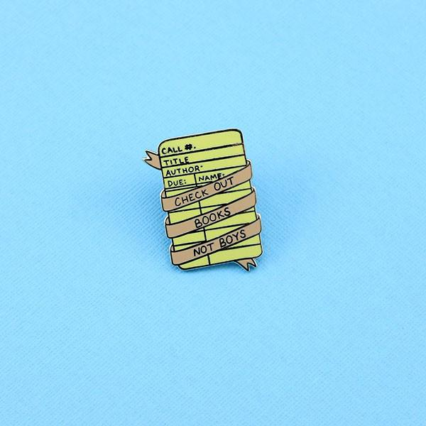 Check-out-books-not-boys-enamel-pin-nz