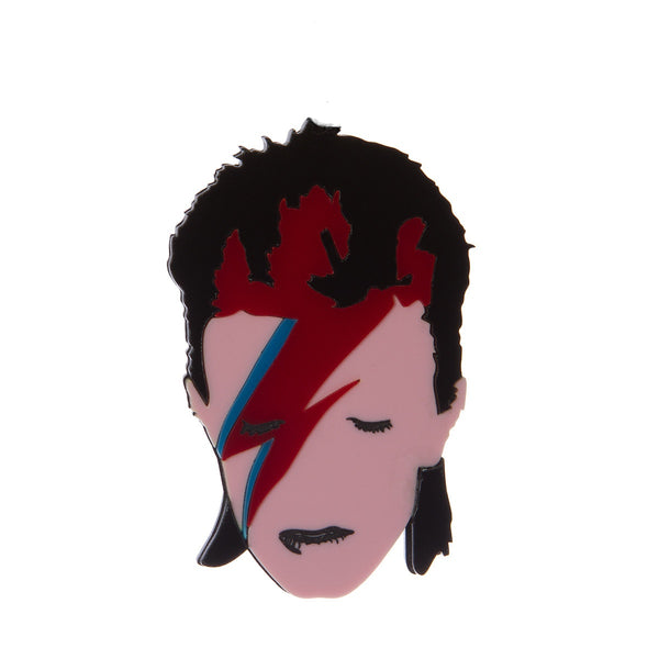 Aladdin Sane Bowie brooch sugar and vice