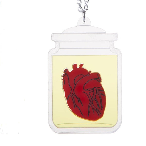 Sugar and Vice heart necklace