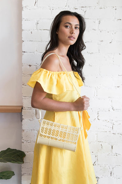 Yellow jelly purse