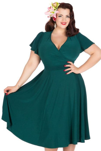 Lady Voluptuous plus size teal Lyra dress NZ