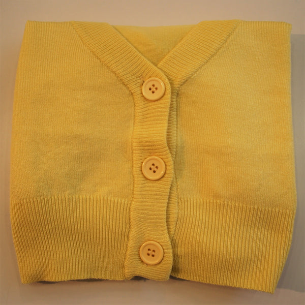 Custard cropped 3/4 sleeve cardigan