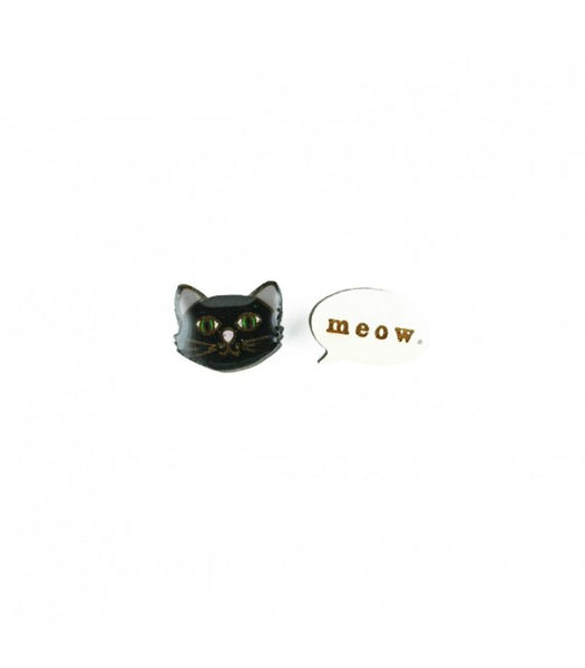 cat meow earrings Bok Bok B'Gerk