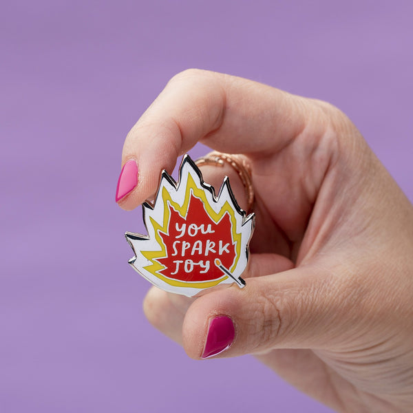 You spark joy enamel pin Punky Pins NZ