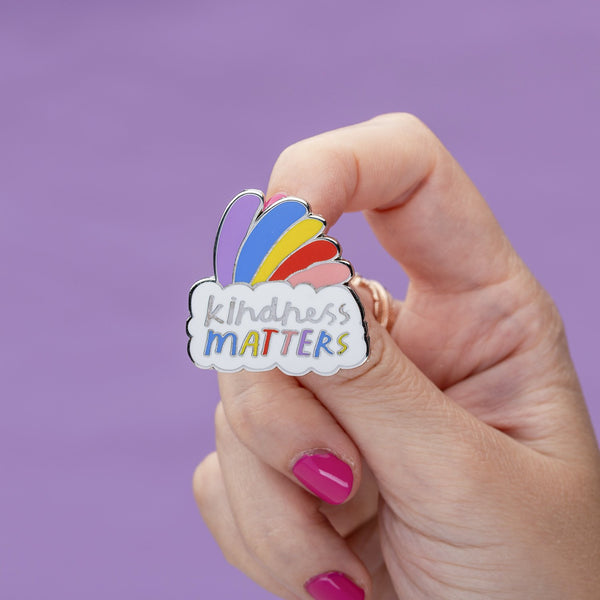 kindness matters rainbow pin Punky Pins NZ