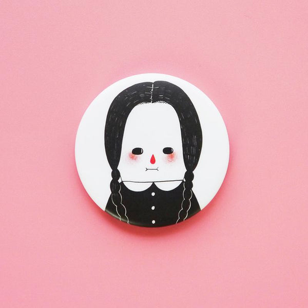 Wednesday addams I hate everything badge NZ minifanfan