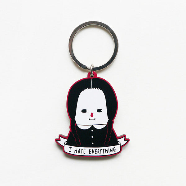 i-hate-everything-wednesday-addams-keyring