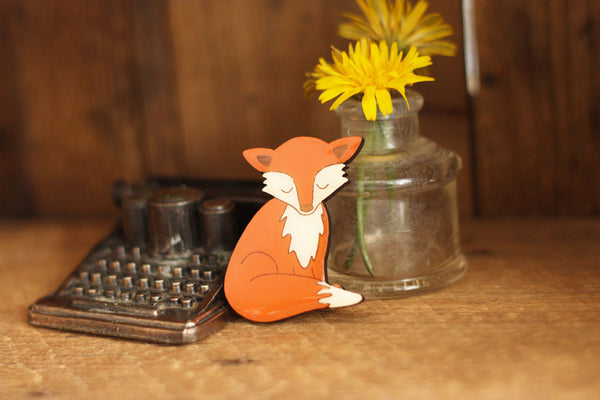 fox brooch Bok Bok B'Gerk