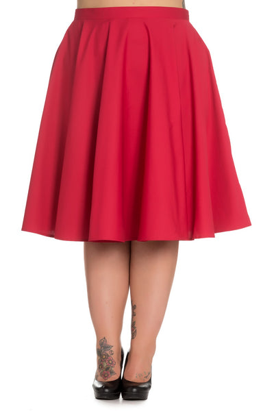 Hell Bunny Paula red circle skirt