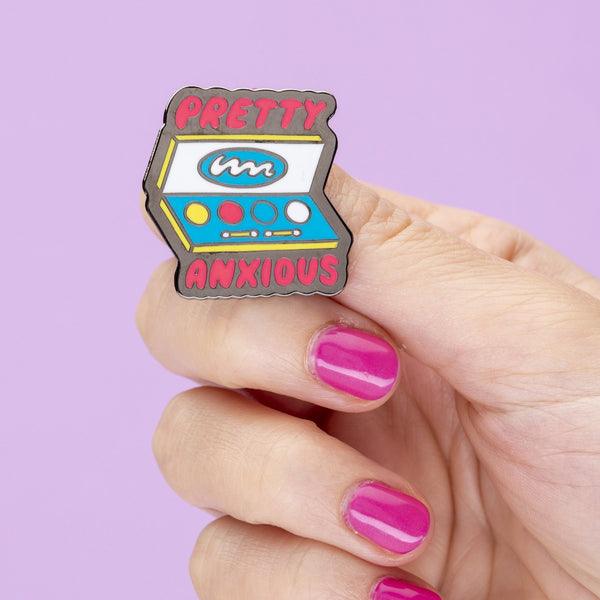 pretty anxious Punky Pins enamel pin NZ