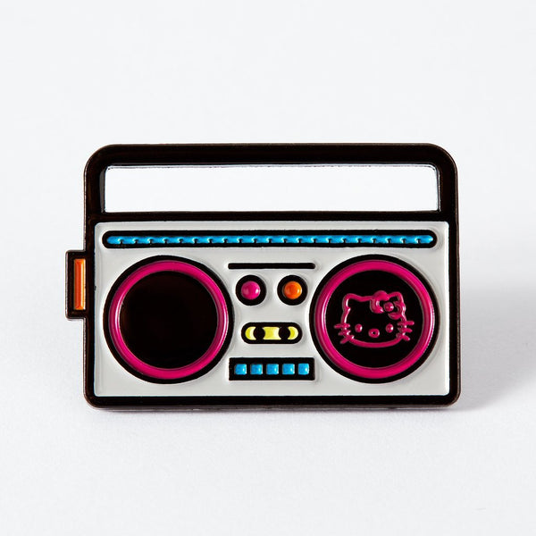 Hello Kitty boombox enamel Punky Pins
