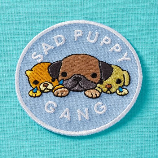 sad puppy gang patch punky pins