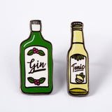 Punky Pins gin and tonic enamel pin set