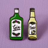 Gin and Tonic enamel pin set Punky Pins NZ