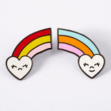 Happy Sad rainbow pin set Punky Pins