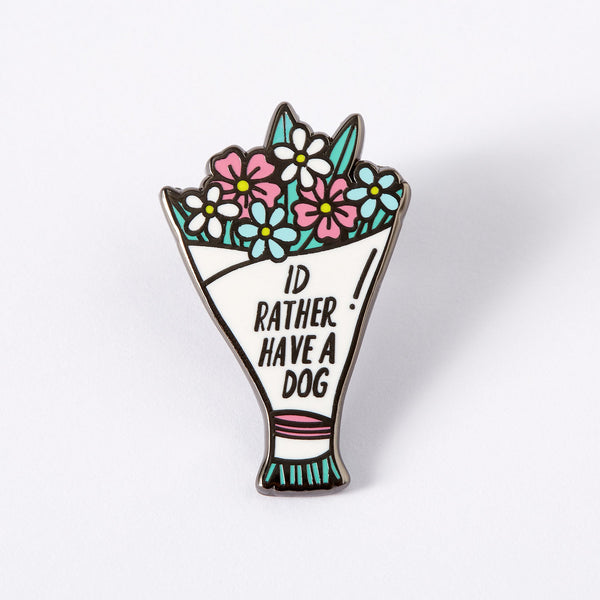 I'd rather have a dog floral bouquet Punky Pins NZ