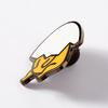 Gudetama enamel pin NOPE NZ Punky Pins side view