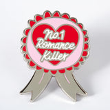 No.1 Romance Killer rosette pin Punky Pins NZ