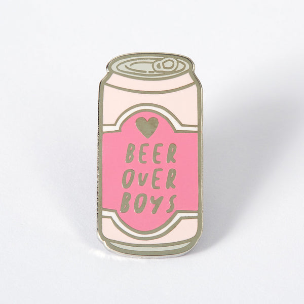 Beer over boys enamel pin Punky Pins NZ