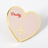 Peachy bum enamel pin Punky Pins NZ