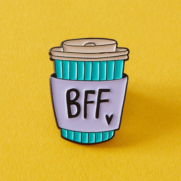 BFF coffee cup enamel Punky Pins NZ