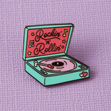Punky Pins rockin & rollin record player pin