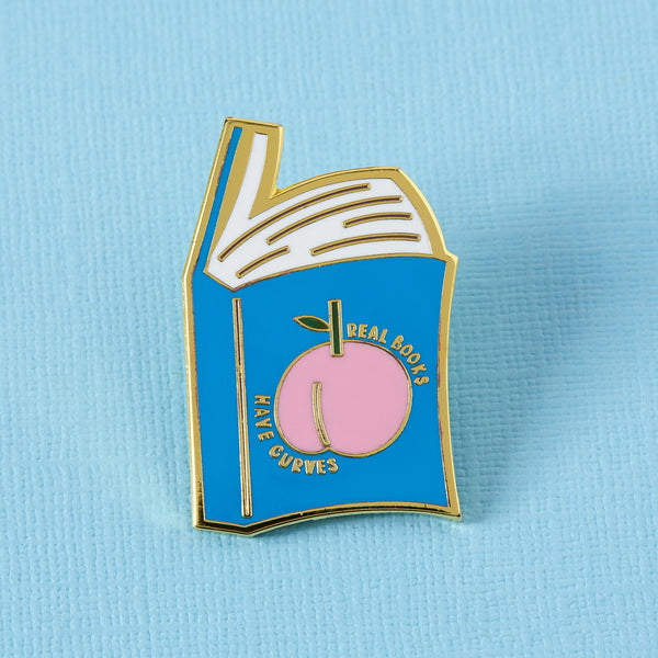 real books have curves enamel pins Punky Pins
