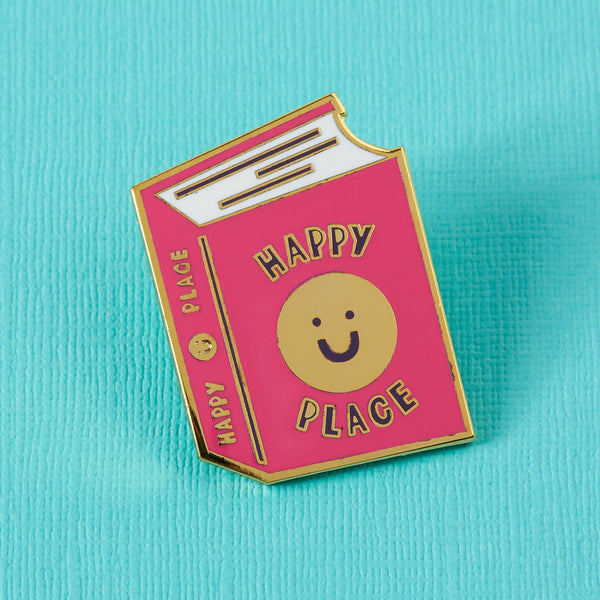 Happy place book enamel pin Punky Pins