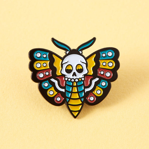 Deathshead-Hawkmoth-tattoo-inspired-pin