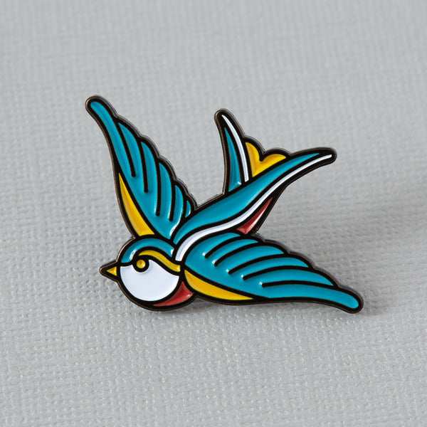 swallow-tattoo-enamel-pin